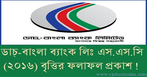Dutch Bangla Bank SSC Scholarship 2016 Result