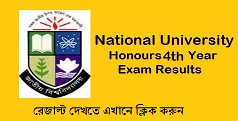 NU Honours 4th year exam Result