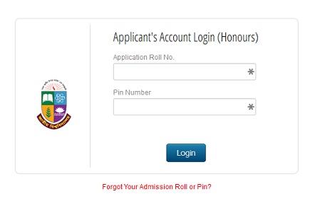 Honours Admission Release Slip Result