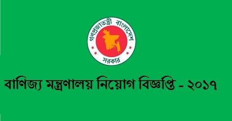Ministry of Commerce job circular