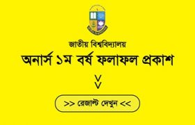 Honours 1st year Result 2018