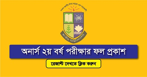 Honours 2nd Year Result 2018 Published – www.nu.edu.bd